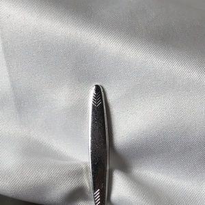Swank Silver Tone Tie Clip